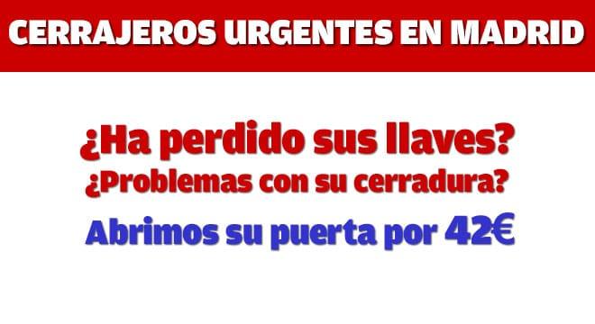 Apertura puertas madrid 900 42 11 42 precio nico 42 00 - Cerrajeros madrid 24h ...