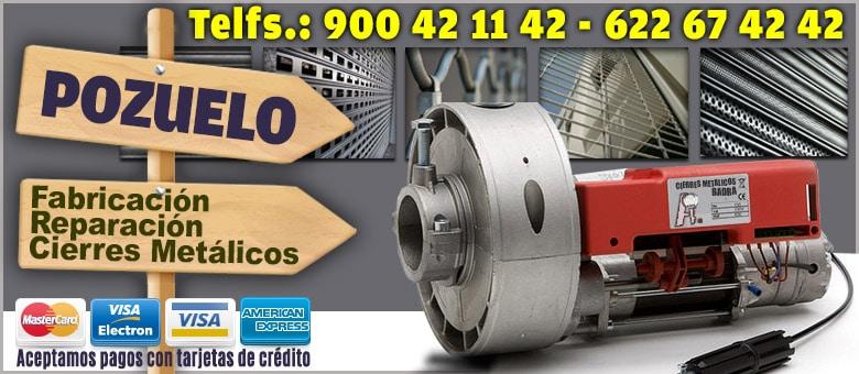 cierres enrollables metalicos Pozuelo de Alarcon