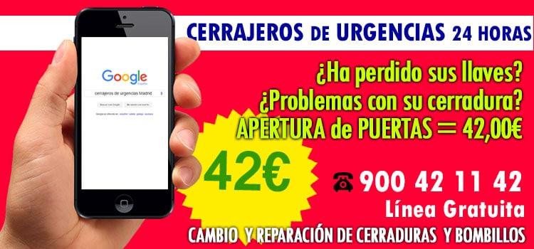 cerrajeros urgencias Madrid 24 horas