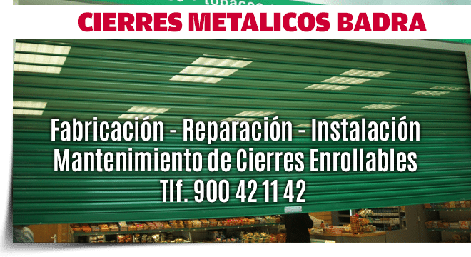 cierres metalicos enrollables Madrid