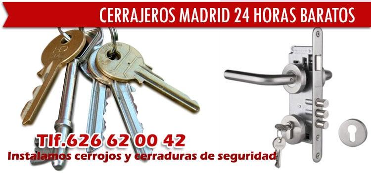 Los cerrajeros Madrid 24 horas baratos